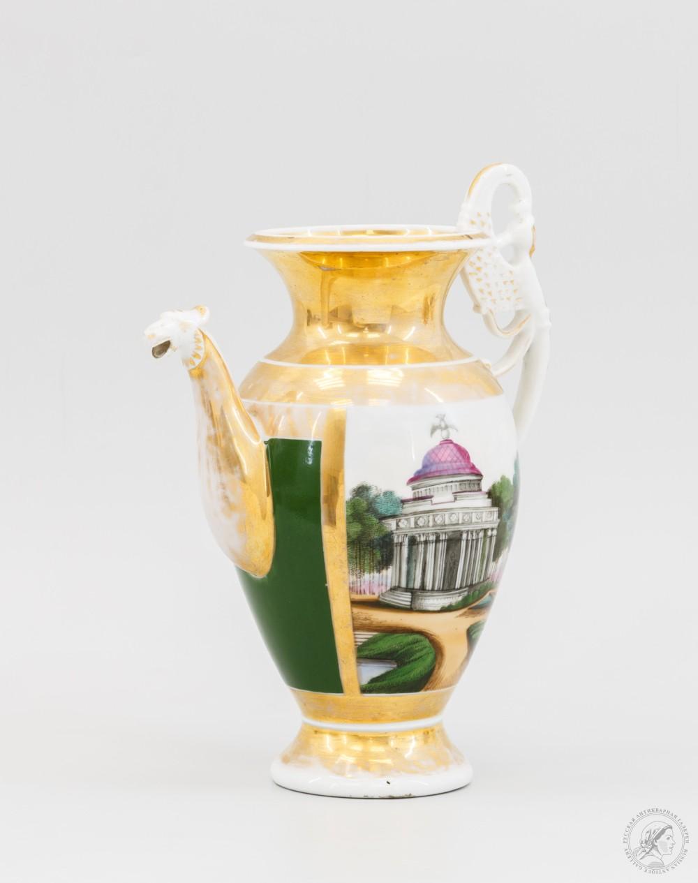 Антикварный чайник «Виды парка»
