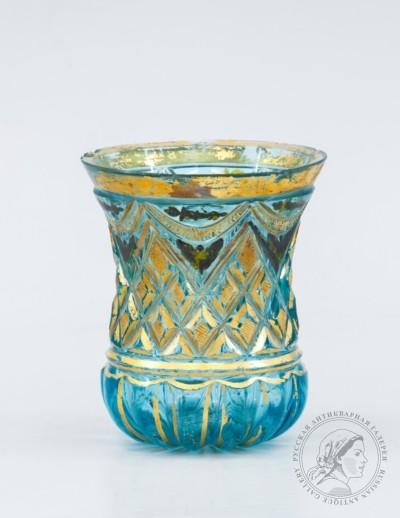 стакан аквамаринового стекла