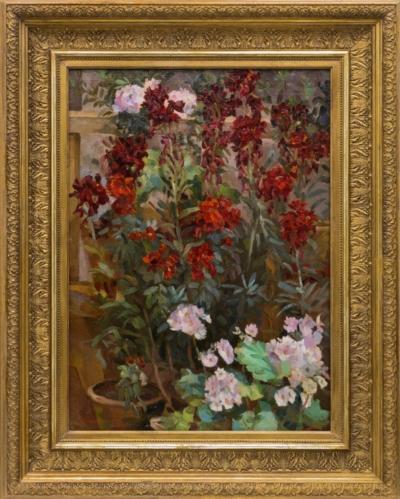 Натюрморт с комнатными цветами