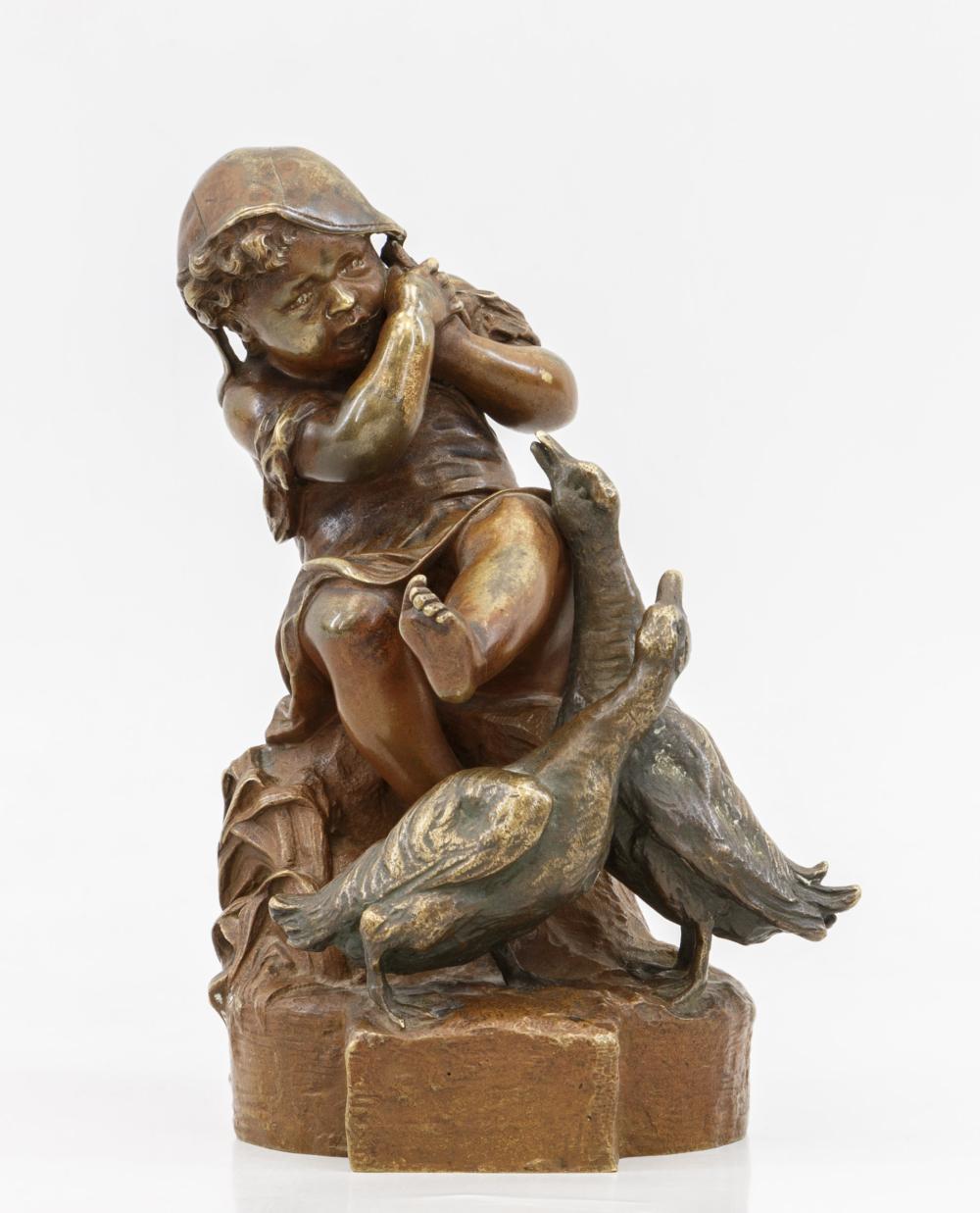 Скульптура «Девочка и гуси»