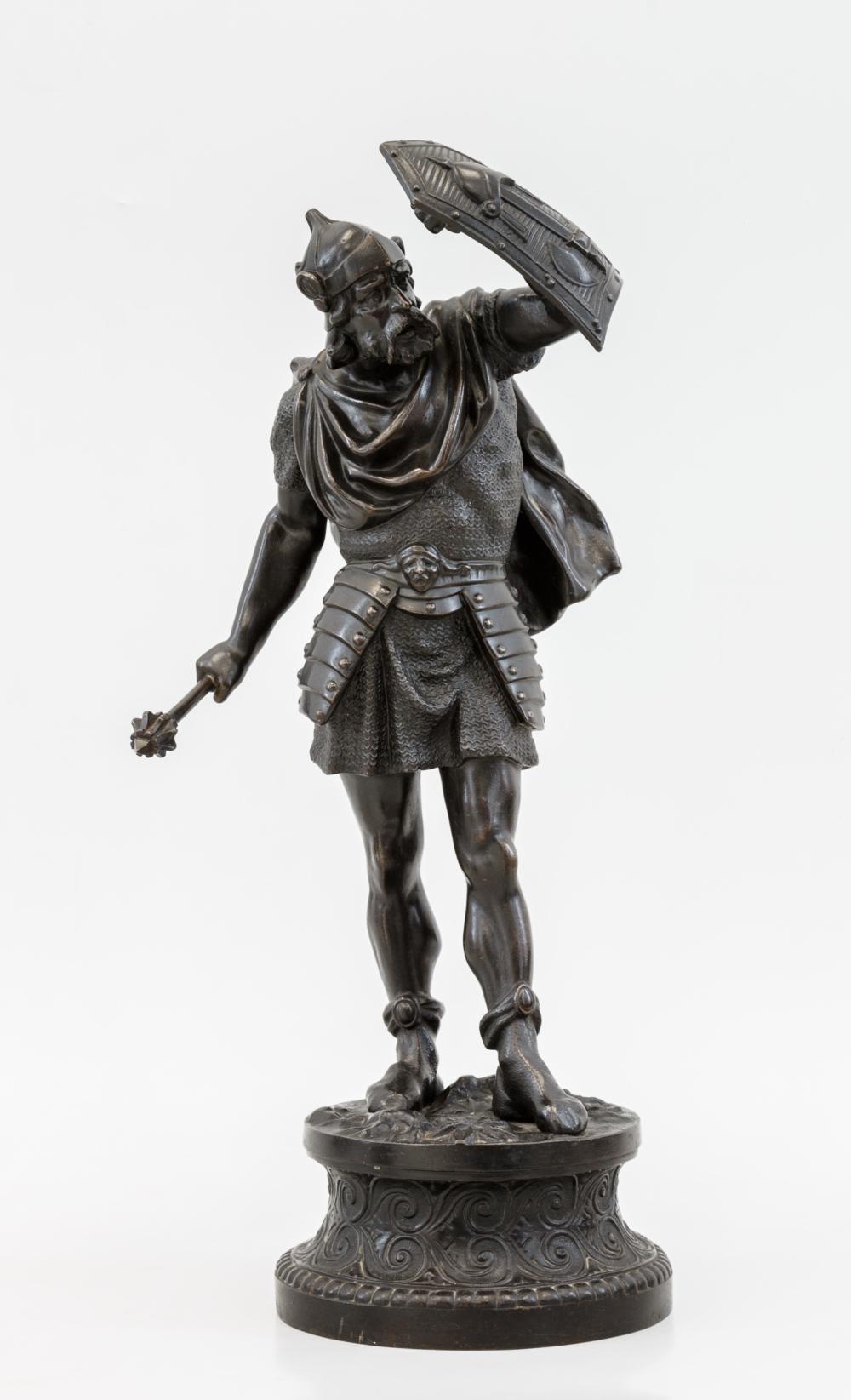 Скульптура «Рыцарь с щитом и булавой»