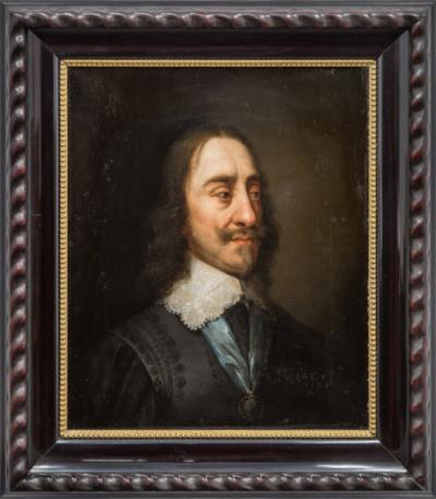 Старинный портрет. «Английский король Карл I»
