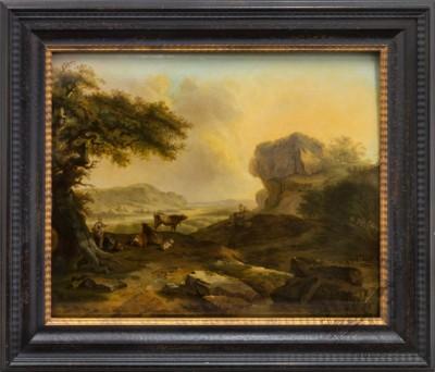 Старинная картина «Голландский пейзаж»