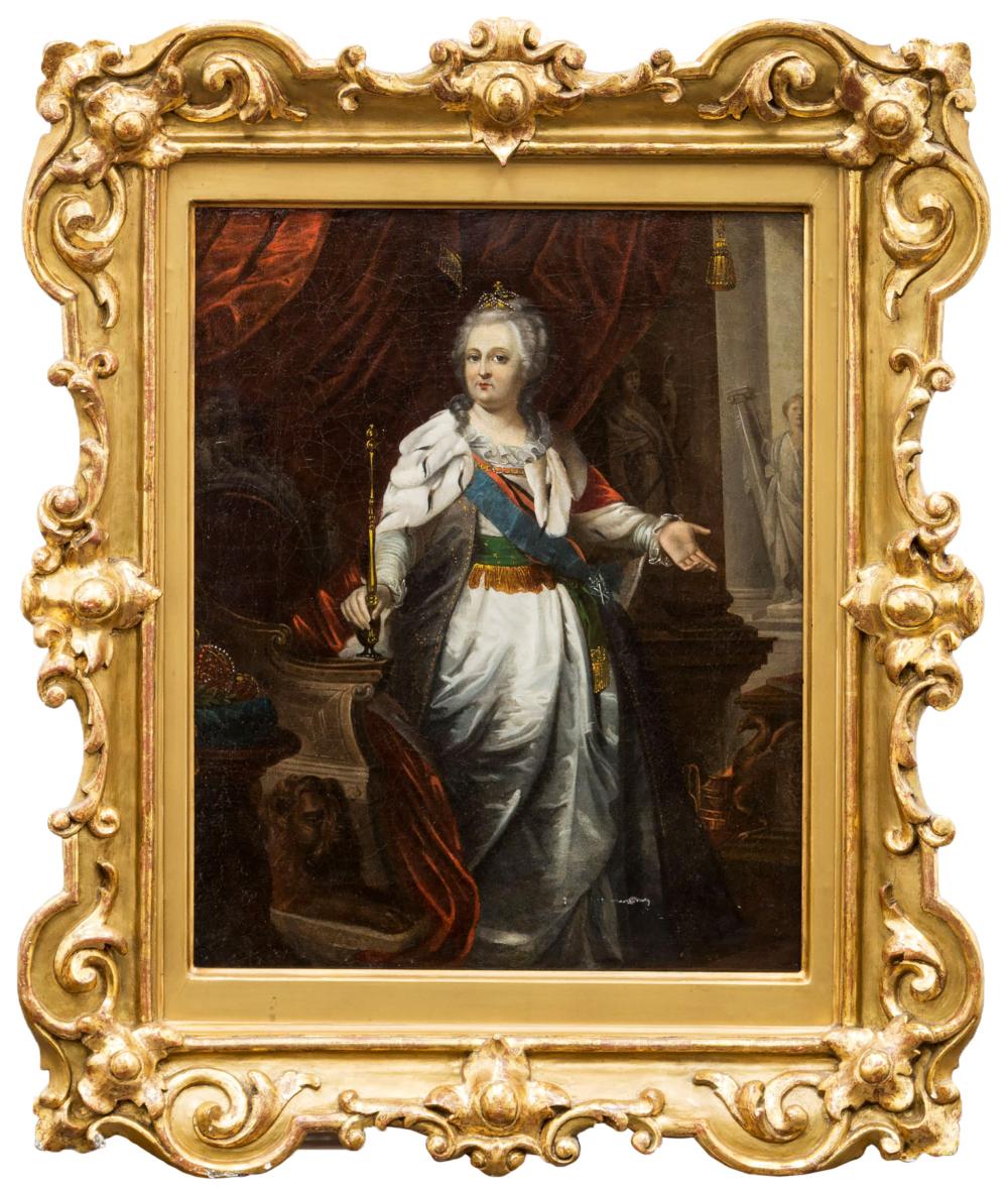 Старинный портрет «Екатерина II»