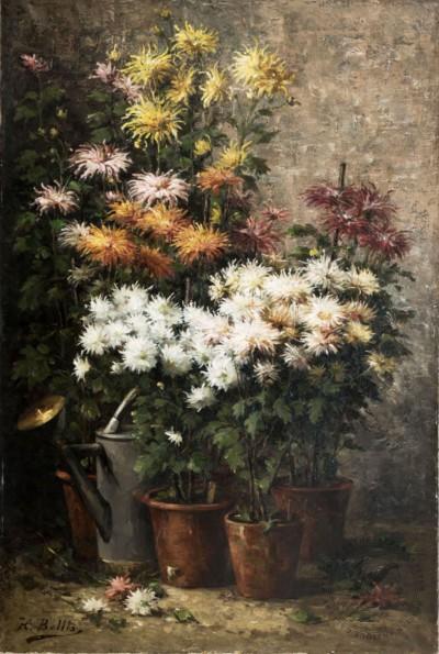 Осенние цветы в горшках