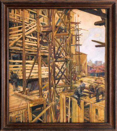 Рисунок «Москва строится»