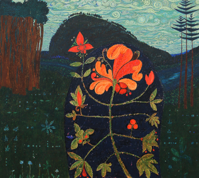 Картина «Красный цветок»