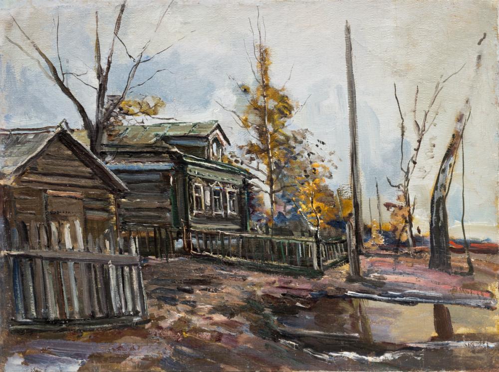 Картина «Весна в деревне»