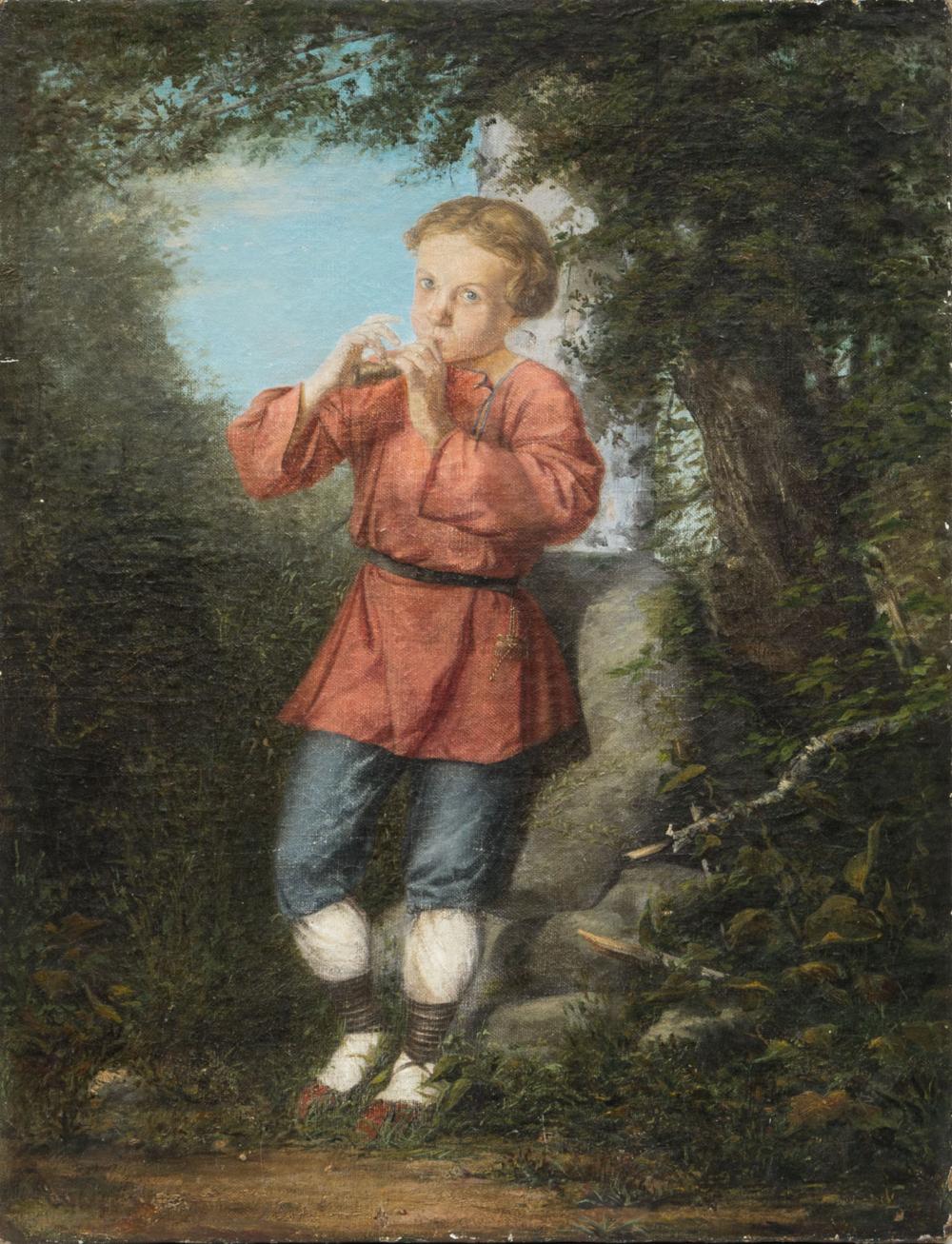 Картина «Пастушок, играющий на рожке»