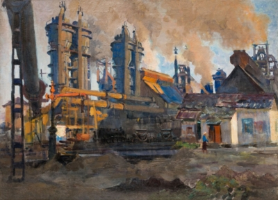 Картина «Металлургический завод»
