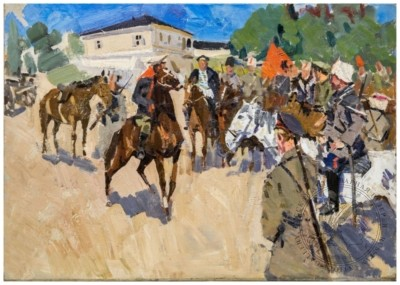 Картина «Красноармейцы на хуторе»