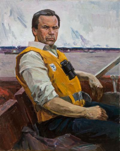 Портрет спортсмена-водномоторника А.В.Рождественского