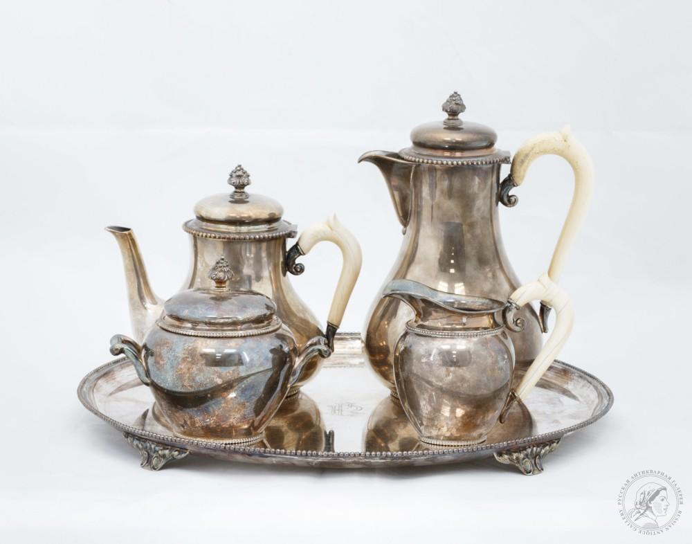 Чайно-кофейный сервиз из 5 предметов
