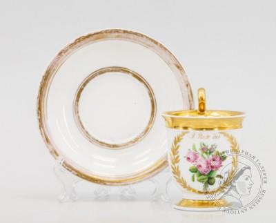 чайная пара букет роз