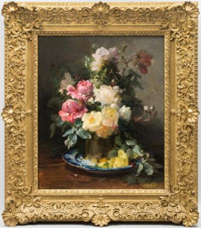 Картина «Цветочный натюрморт с розами»