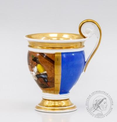 Фарфоровая чашка «Голландская сценка»