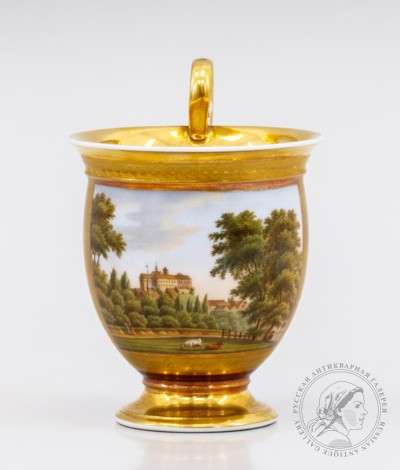Фарфоровая чашка «Вид на Убург»