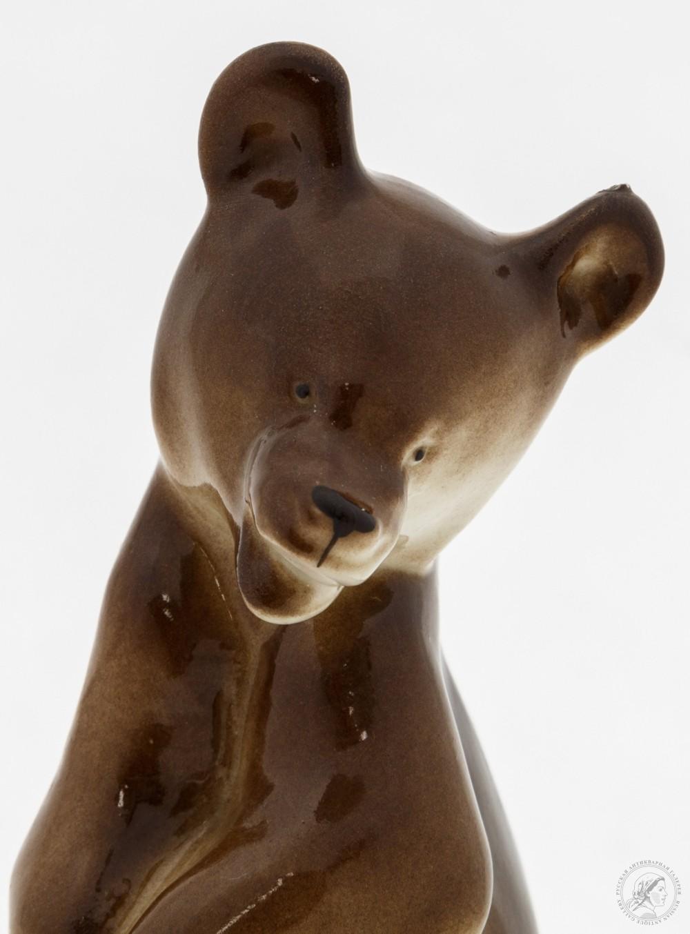 Статуэтка «Медвежонок стоящий» ЛФЗ