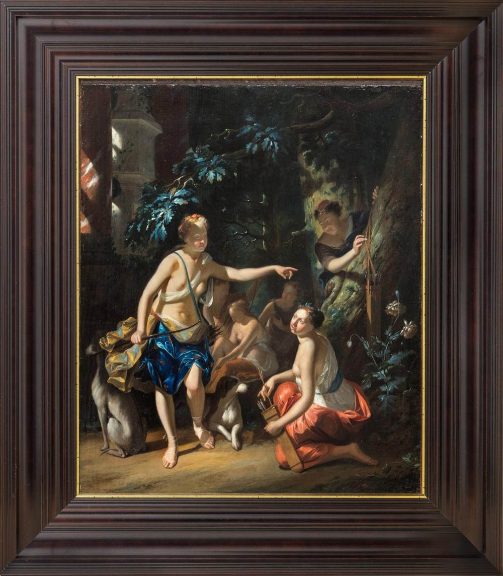 Старинная картина «Диана-охотница»