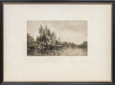 Деревня у берега реки Уаза