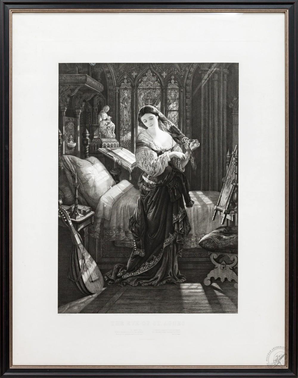 Гравюра «Канун Св. Агнессы»
