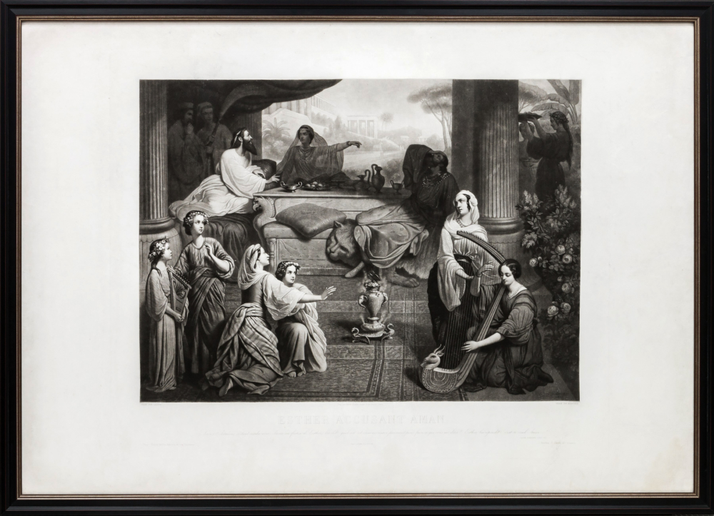 Гравюра «Эсфирь, упрекающая Амана»
