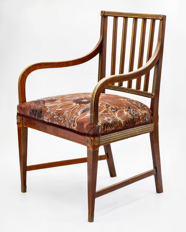 Кресло красного дерева в стиле Жакоб