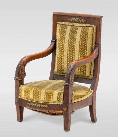 Кресло красного дерева в стиле Директории (Игрушечное)