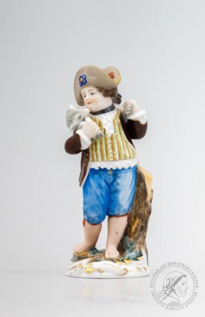 Скульптурная композиция в стиле пасторальных сцен Мальчик с овечкой
