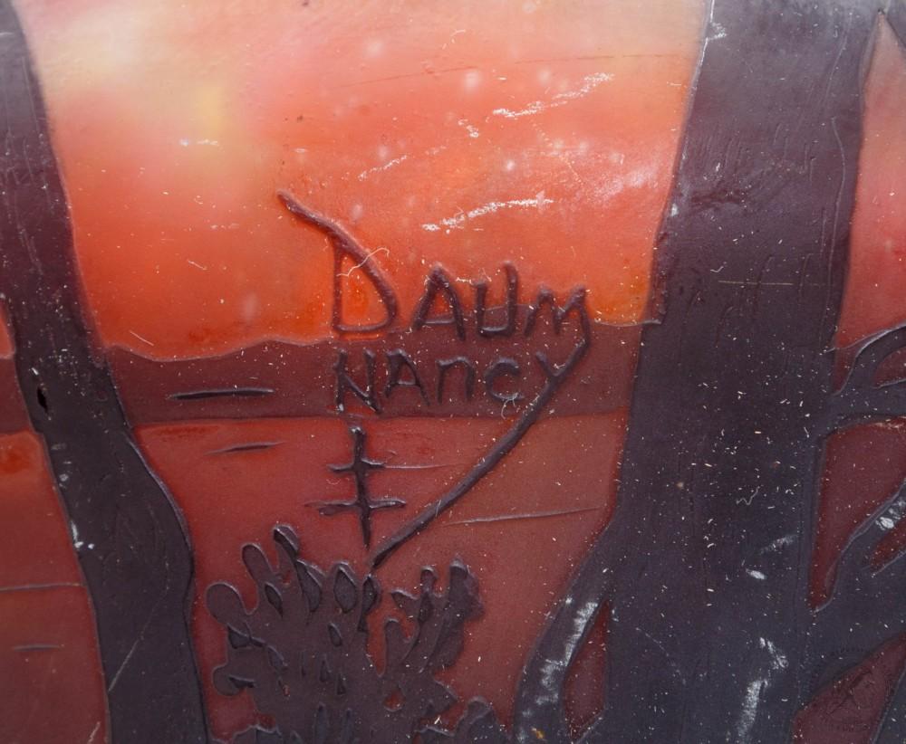 Ваза «Пейзаж с лодкой». Франция, Нанси, фирма «Daum Fr?res»