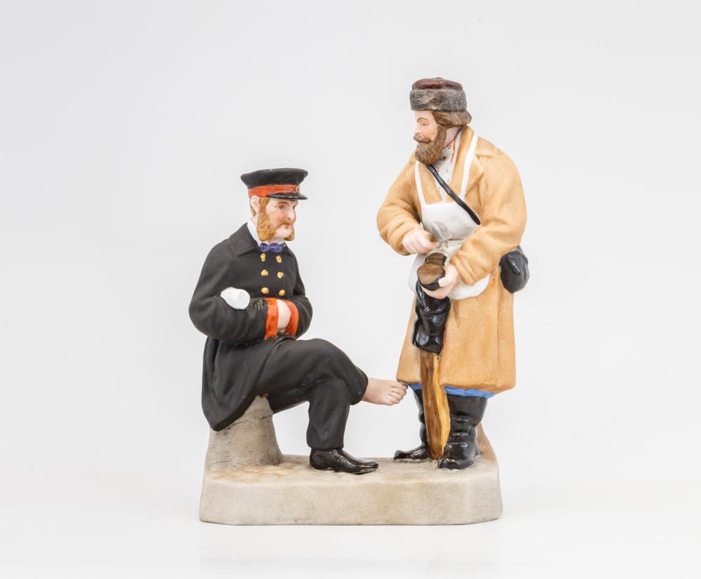 Скульптурная композиция «Холодный сапожник и чиновник»