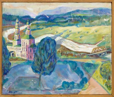 Картина «Пейзаж с церковью»