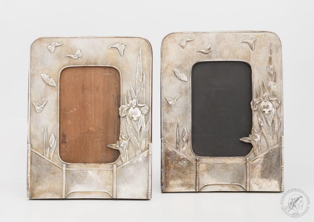 Парные рамки Tiffany «Ирисы» в стиле модерн