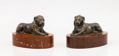 Парные декоративные скульптуры «Львы»