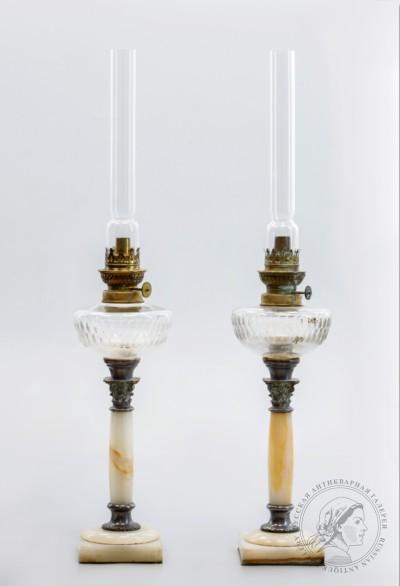 Парные керосиновые лампы
