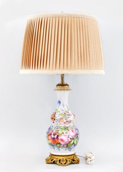 Лампа фарфоровая «Букет дачных цветов»
