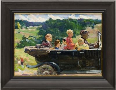 Эскиз к картине « Ленин на прогулке с детьми»