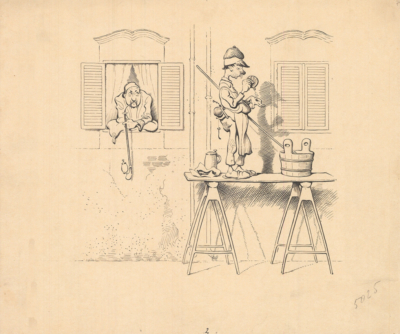 Карикатура «Мойщик окон»