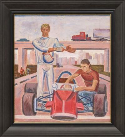 Картина «Автогонщики»