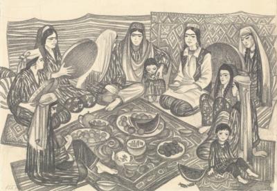 Рисунок «Восточный праздник»