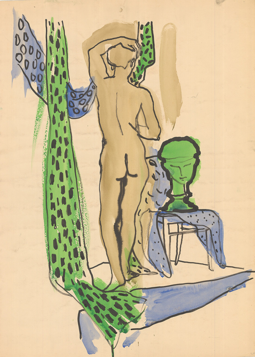 Рисунок «Натурщица»