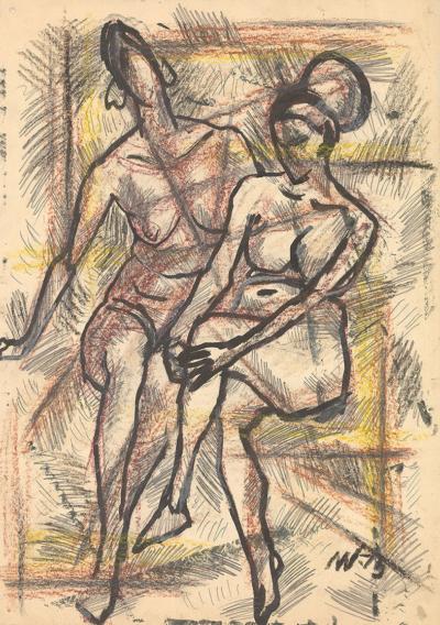 Рисунок «Две обнаженные»