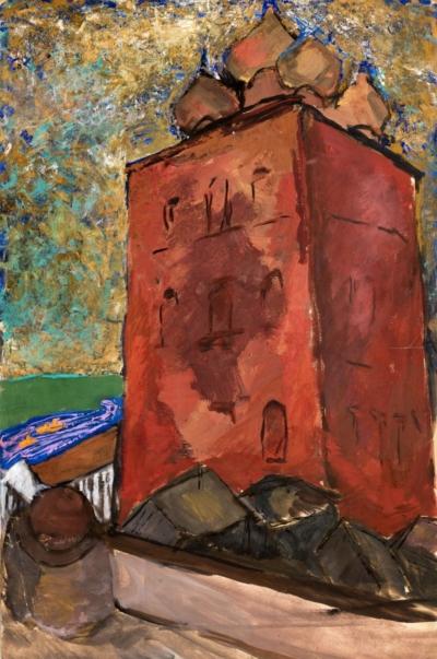 Рисунок «Красный храм»