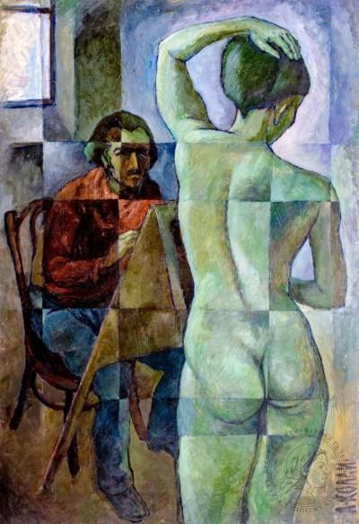 Картина «В мастерской»