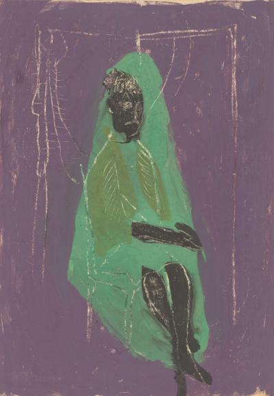 Рисунок «Девушка в зеленом»