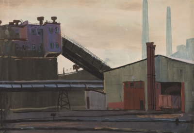 Картина «Cталелитейный завод»