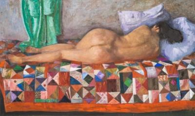 Картина «Красавица на лоскутном одеяле»