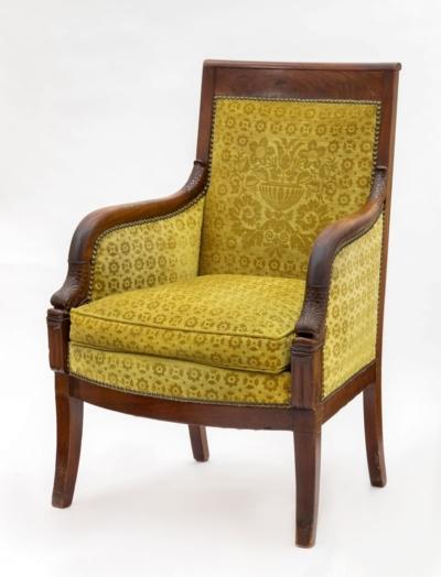 Кресло красного дерева в стиле директории