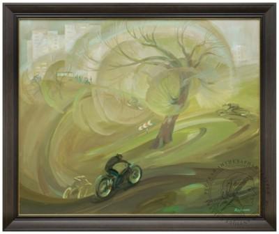 Картина «Весенний мотокросс»
