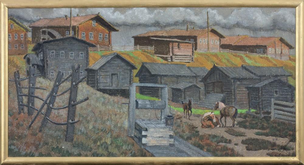 Картина «Покой Мезенской деревни»